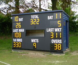 Custom Made Electronic Cricket Scoreboards